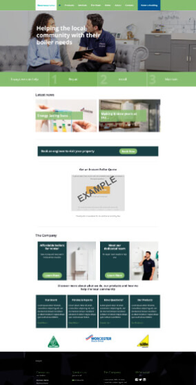 Worcester Bosch website 2