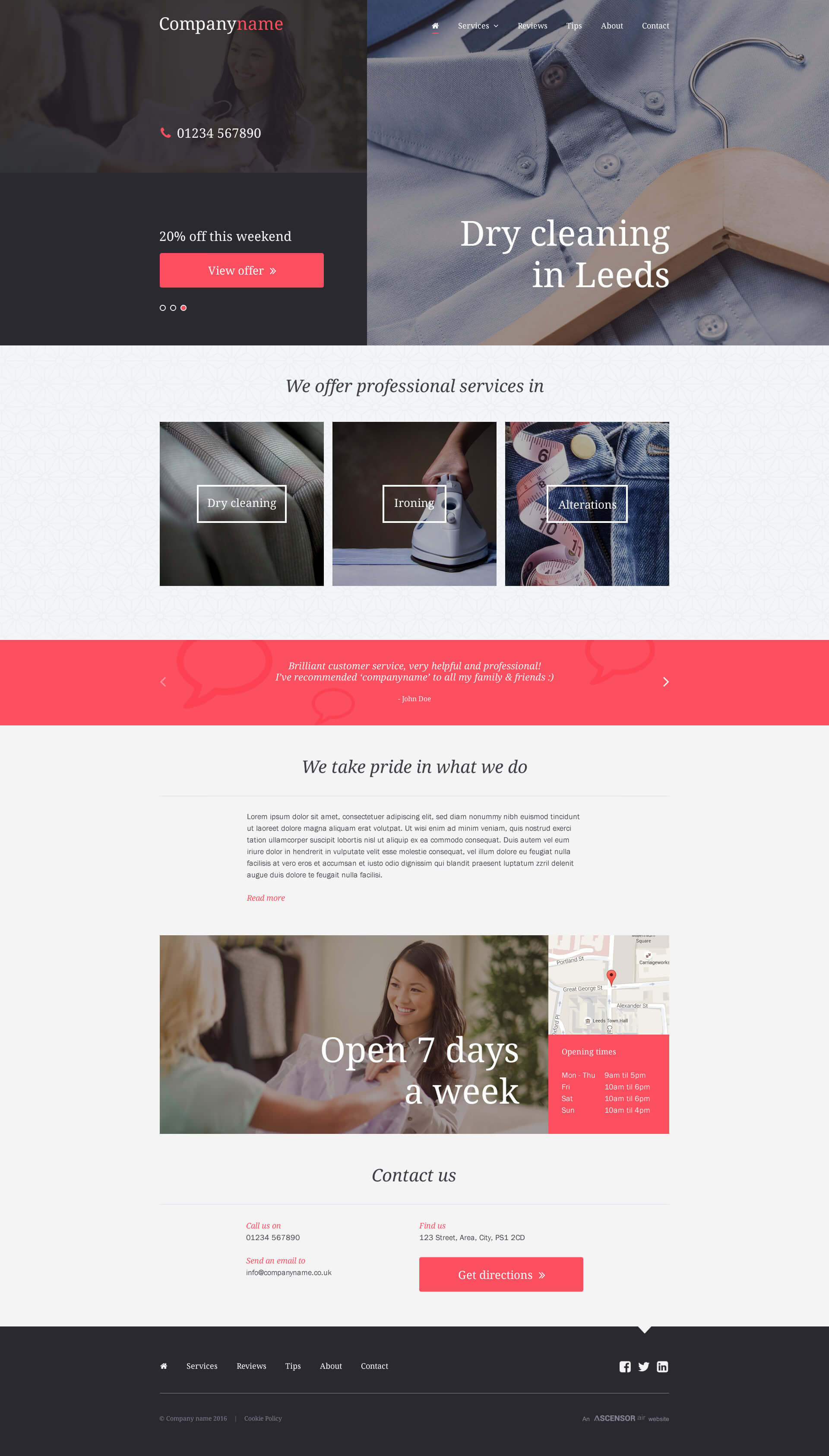 Air Websites Template - High Street