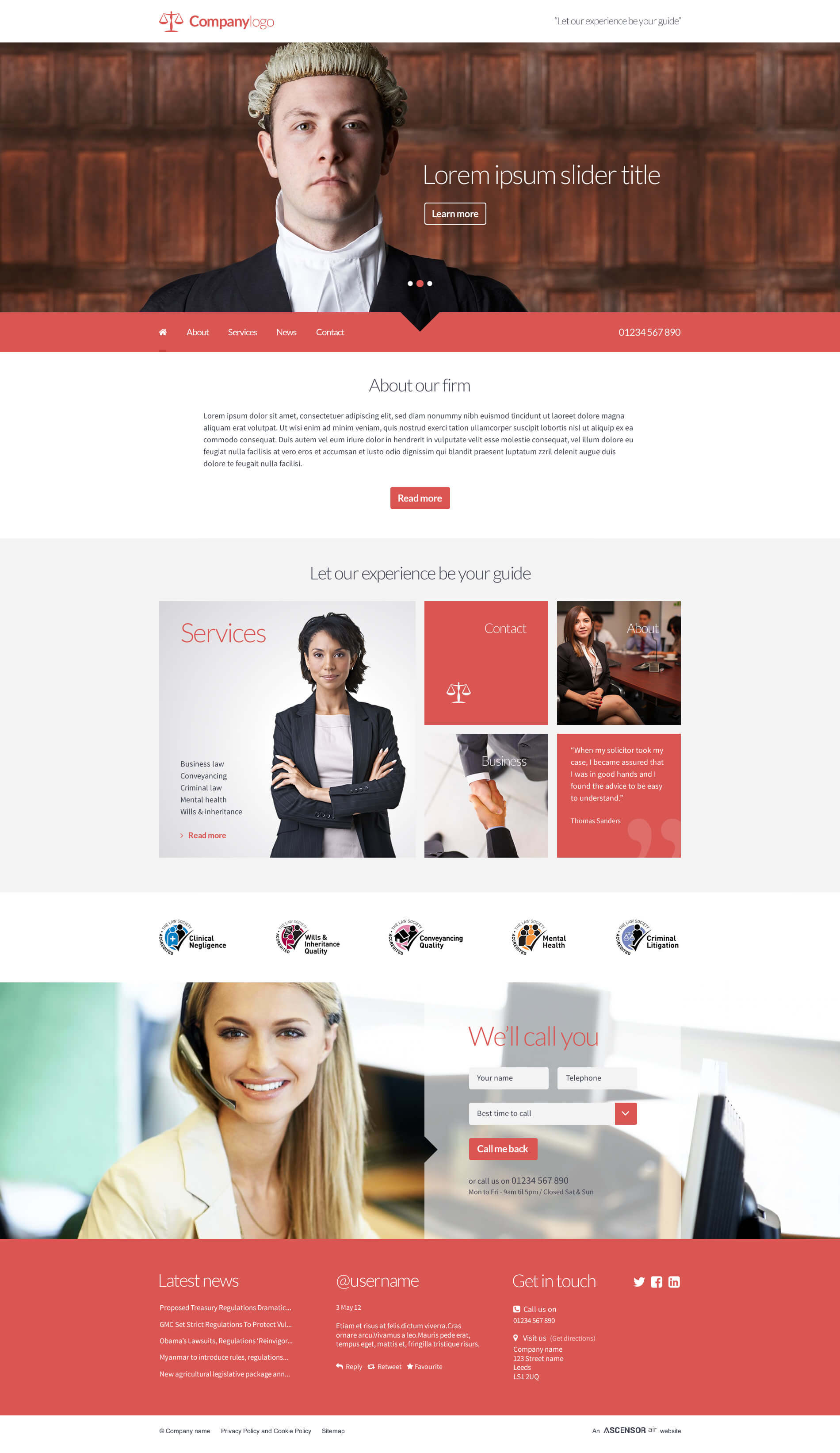 Air Websites Template - The Professional