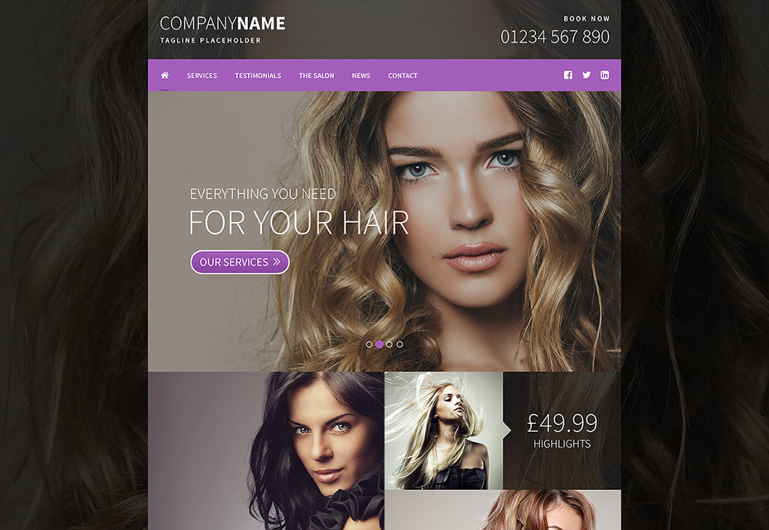 Hair & Beauty Website Design Leeds