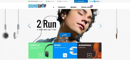 An example of an ecommerce site