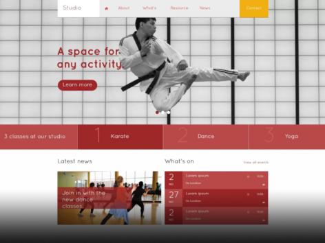 Air Websites Template: Studio