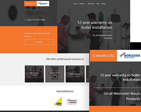 Gary Worth Plumbing & Heating | Air Websites