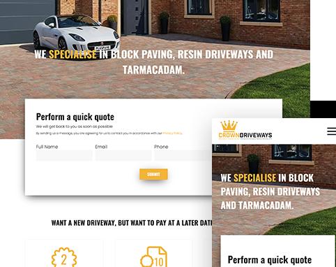 Crown Driveways | Air Websites